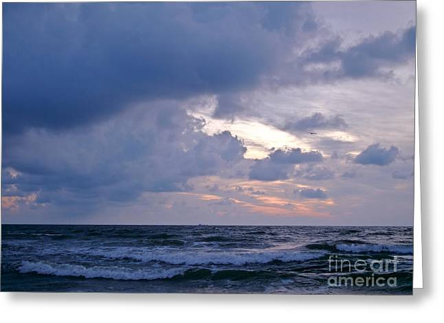 Sunrise On The Atlantic Greeting Card