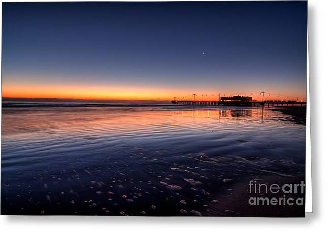 Sunrise On The Beach Greeting Card by Michael Herb