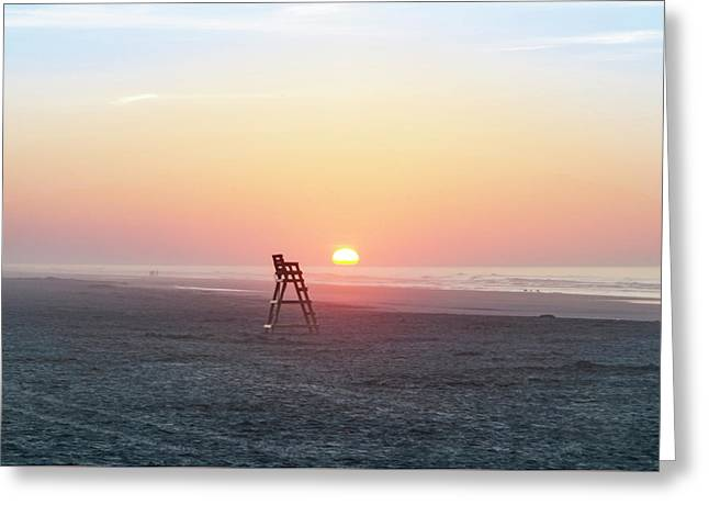 Sunrise On The Beaches Of Wildwood New Jersey Greeting Card