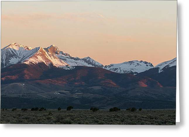 Sunrise On The Blanca Group Greeting Card by Aaron Spong