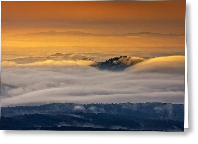 Greeting Card featuring the photograph Sunrise On The Blue Ridge Parkway by Ken Barrett