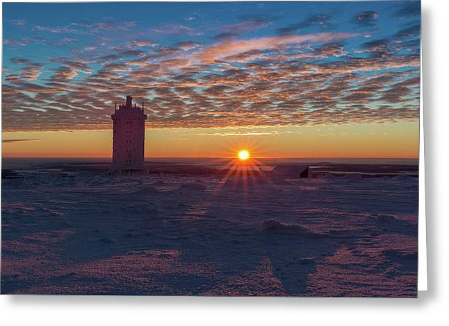 Sunrise On The Brocken, Harz Greeting Card