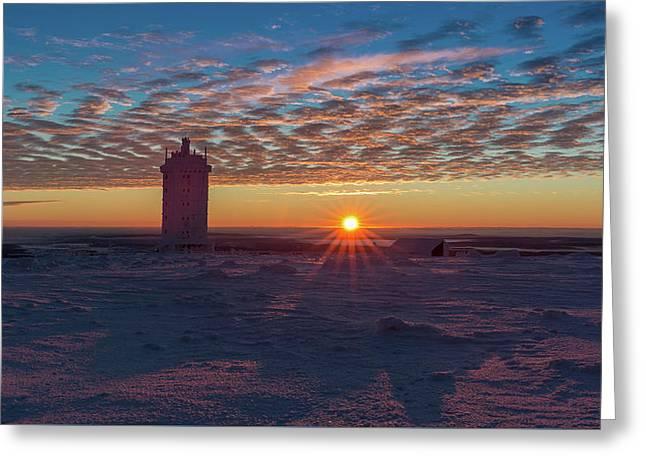 Sunrise On The Brocken, Harz Greeting Card