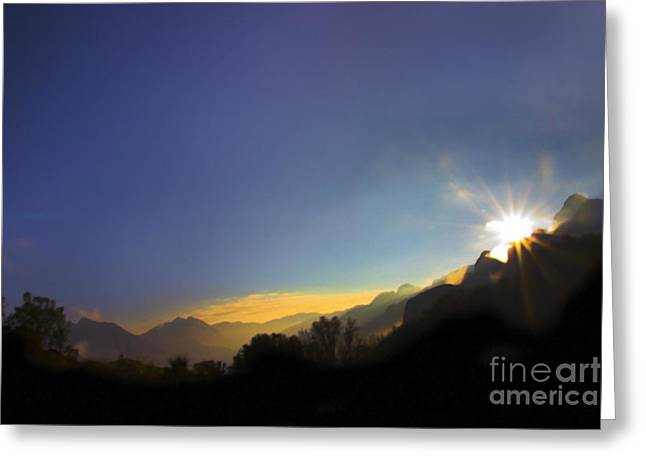 Sunrise On The Cajas Range Of The Andes Greeting Card