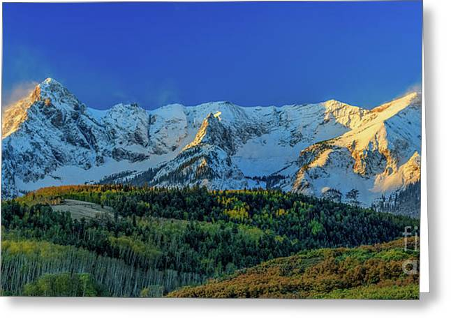 Sunrise On The Dallas Divide Greeting Card