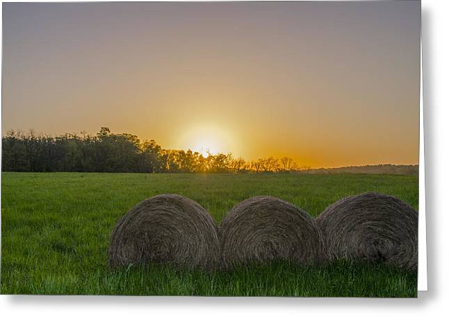Sunrise On The Farm Greeting Card by Bill Cannon
