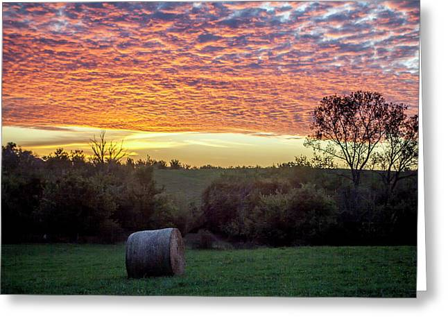 Sunrise On The Farm Greeting Card