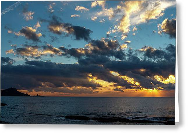 Sunrise On The French Riviera Greeting Card