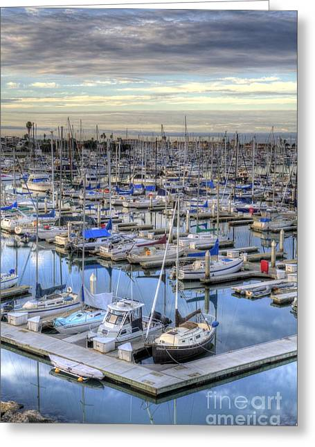 Sunrise On The Harbor Greeting Card