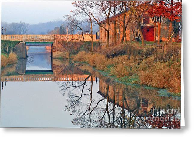 Sunrise On The I And  M Canal Greeting Card