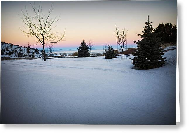 Sunrise On The Mountain Greeting Card