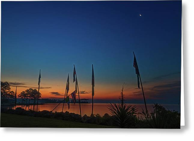 Sunrise On The Neuse 1 Greeting Card
