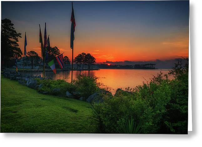 Greeting Card featuring the photograph Sunrise On The Neuse 2 by Cindy Lark Hartman