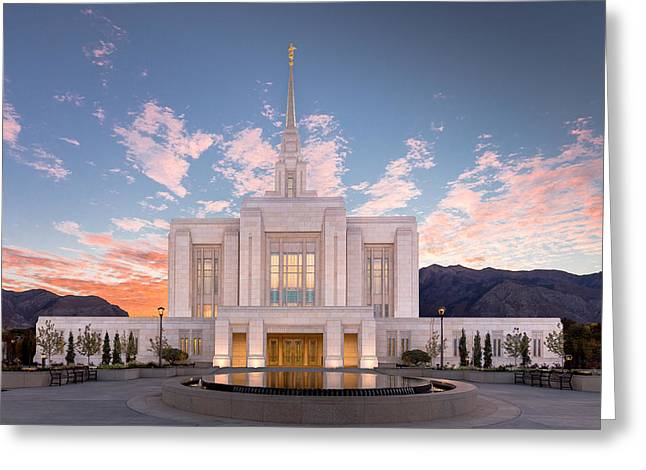 Sunrise On The Ogden Utah Lds Temple Greeting Card