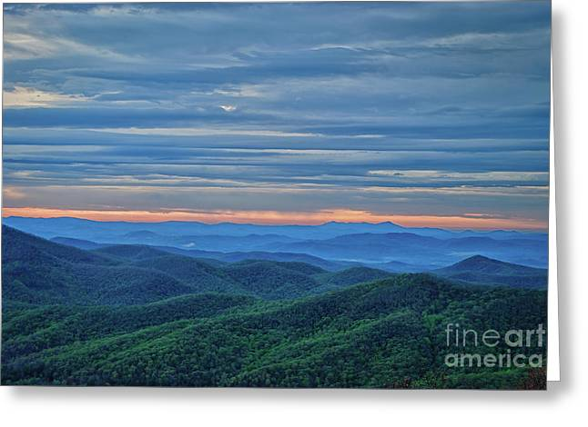 Sunrise On The Parkway Greeting Card