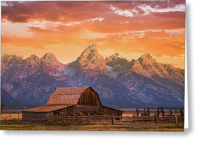 Sunrise On The Ranch Greeting Card