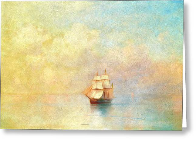 Sunrise On The Sea Greeting Card by Georgiana Romanovna