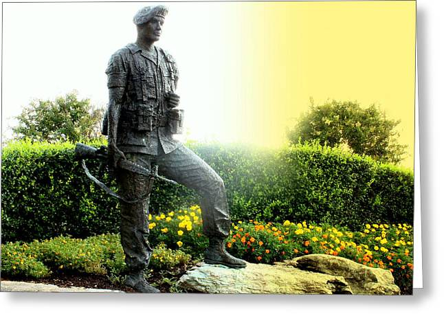 Sunrise On The Soldier Greeting Card by Angela Comperry