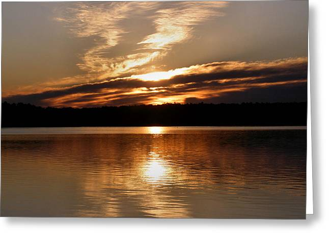 Sunrise On The Turtle Flambeau Flowage Greeting Card