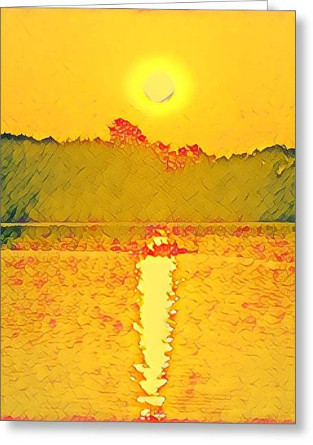 Sunrise On Town Lake Greeting Card