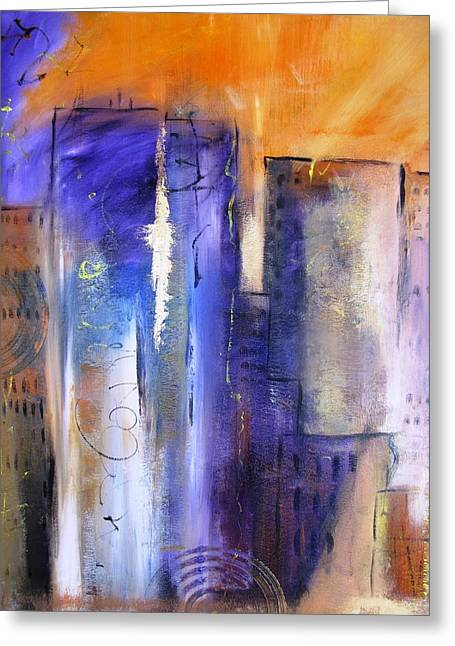 Sunrise On Twin Towers Greeting Card