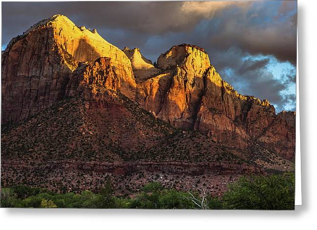 Sunrise On Zion National Park Greeting Card