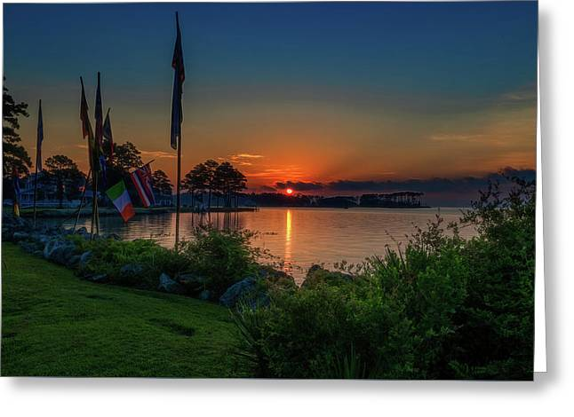 Greeting Card featuring the photograph Sunrise On The Neuse 3 by Cindy Lark Hartman