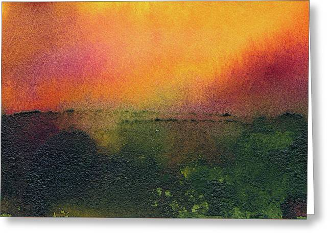 Sunrise Over A Marsh Greeting Card