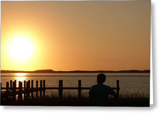 Sunrise Over Assateaque Greeting Card by Donald C Morgan