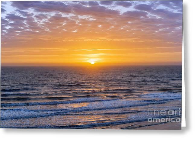 Sunrise Over Atlantic Ocean Greeting Card by Elena Elisseeva
