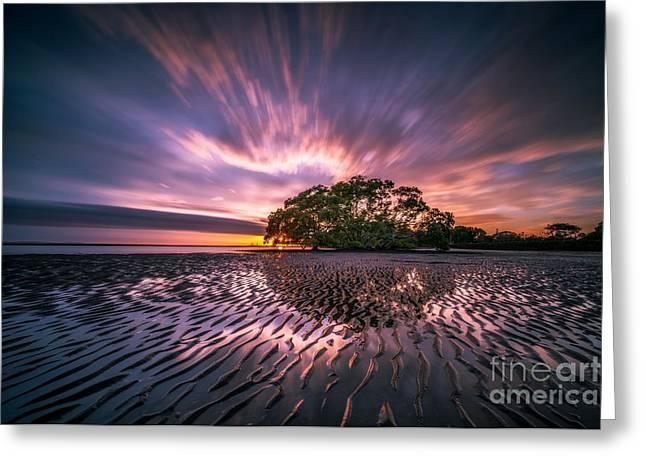Sunrise Over Beach Greeting Card
