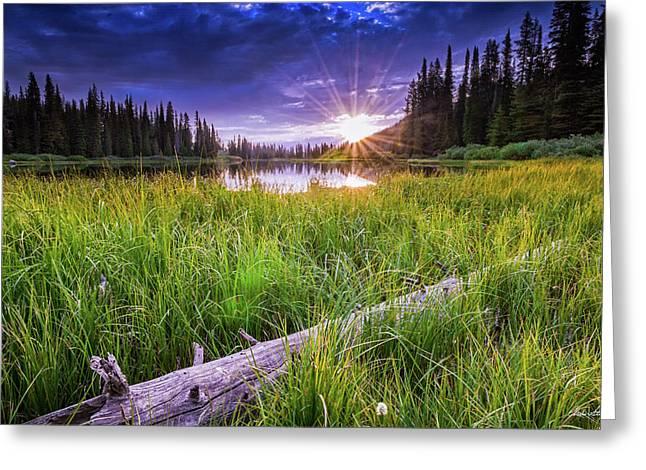 Sunrise Over Big Trinity Greeting Card by C Steele