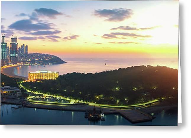 Sunrise Over Busan Sand Beach  Greeting Card