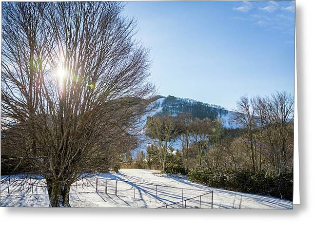 Sunrise Over Cataloochee Ski Greeting Card