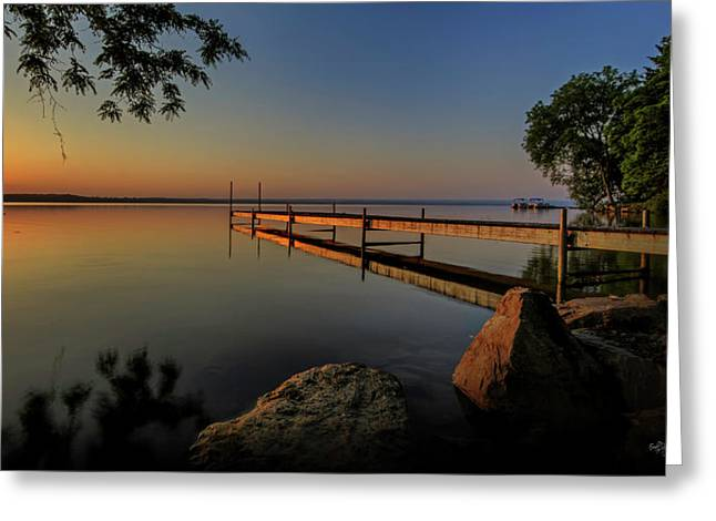 Sunrise Over Cayuga Lake Greeting Card