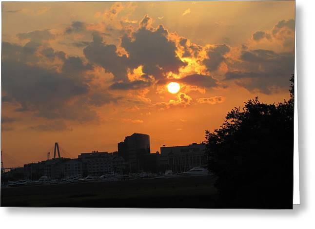 Sunrise Over Charleston Greeting Card by Jason Moore