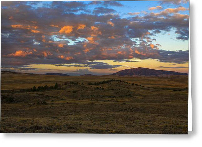Sunrise Over Elk Mountain Greeting Card