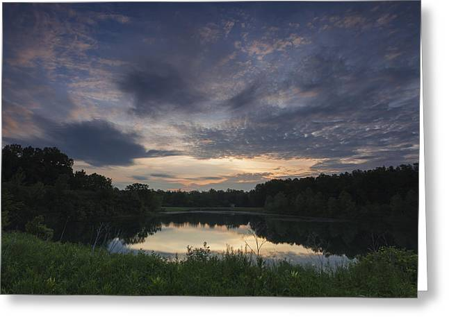 Sunrise Over Indigo Lake Greeting Card