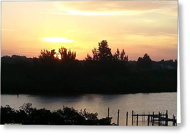 Sunrise Over Intracoastal Waterway Greeting Card by Deb Raulerson