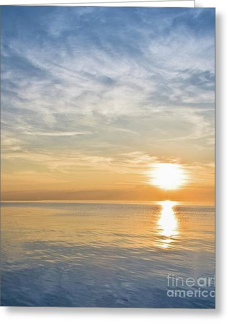 Sunrise Over Lake Michigan In Chicago Greeting Card