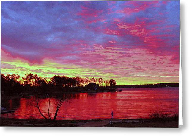 Sunrise Over Lake Murray Greeting Card