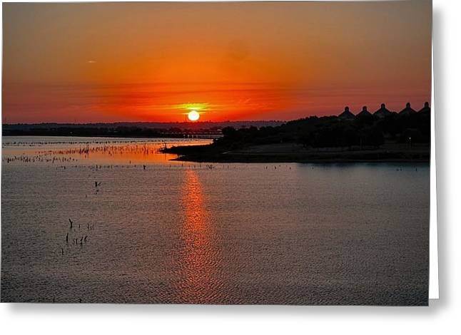 Greeting Card featuring the photograph Sunrise Over Lake Ray Hubbard by Diana Mary Sharpton