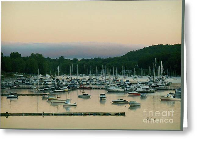Sunrise Over Mallets Bay Variations - Three Greeting Card