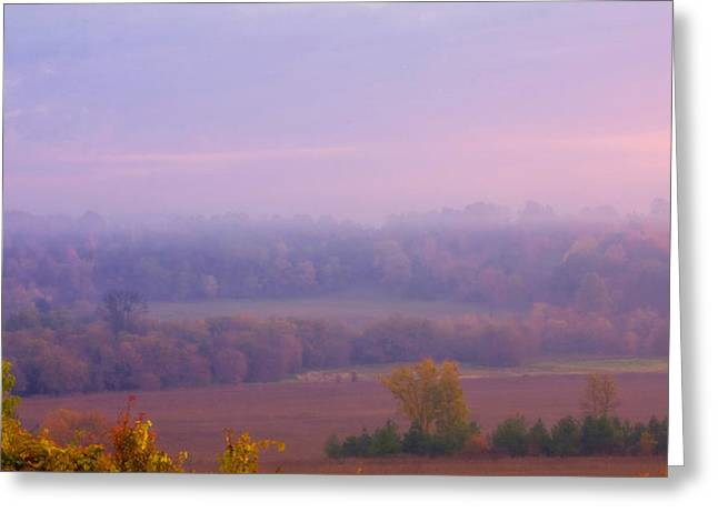 Sunrise Over Mid Valley 2 Greeting Card