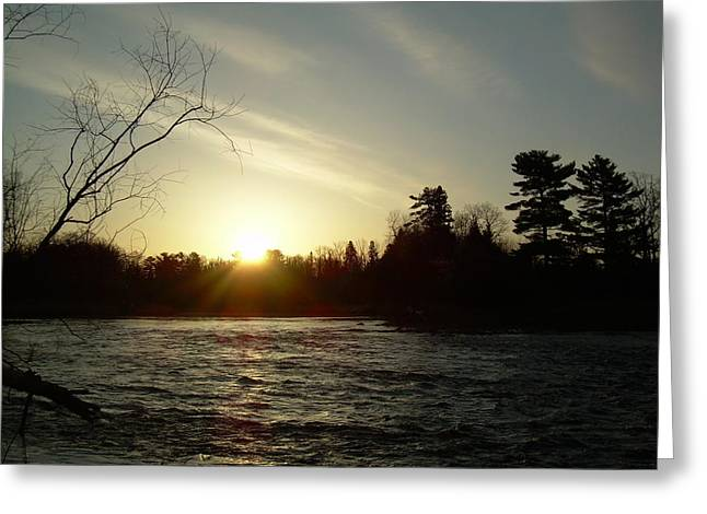 Greeting Card featuring the photograph Sunrise Over Mississippi River by Kent Lorentzen