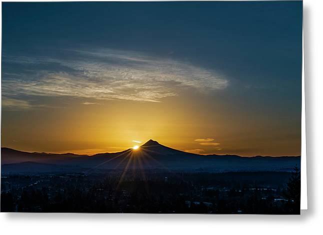 Sunrise Over Mt. Hood Greeting Card