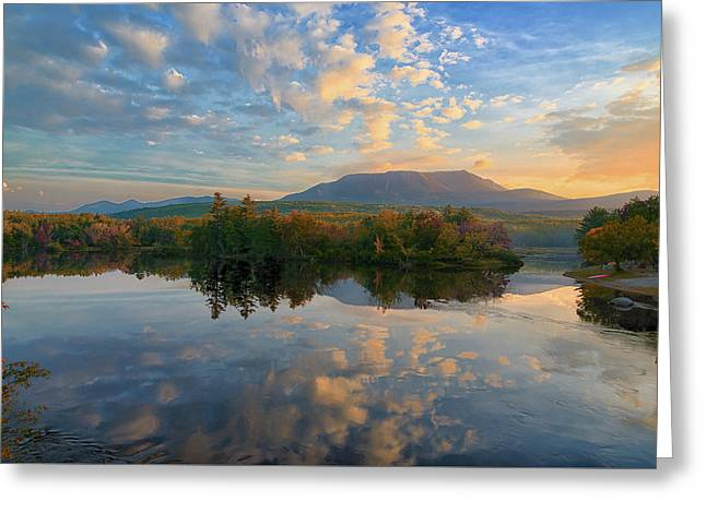 Sunrise Over Mt. Katahdin Greeting Card