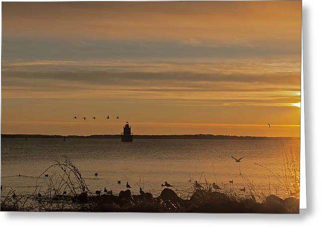 Sunrise Over New Bedford Greeting Card