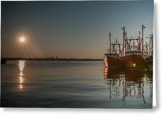 Sunrise Over New Bedford, Greeting Card