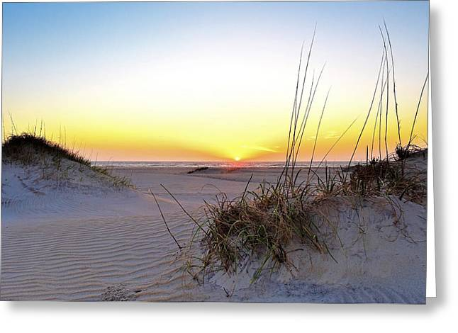 Sunrise Over Pea Island Greeting Card